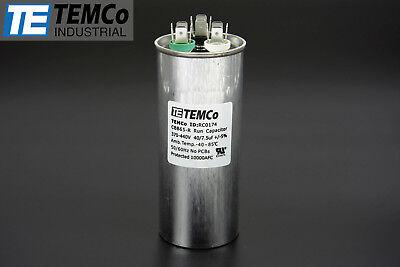 Temco 407.5 Mfd Uf Dual Run Capacitor 370 440 Vac Volts Ac Motor Hvac 407.5