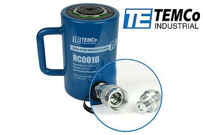 Temco Hc0016 - Hydraulic Cylinder Ram Single Acting 50 Ton 4 Inch Stroke