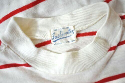 50s VTG ~ FASHIONTOG ~ Red & White Striped T-shirt ~ Girl