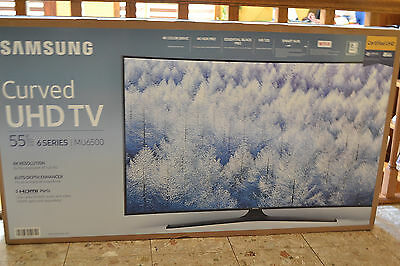Samsung 55 Inch Curved 4K Ultra HD TV/Smart Remote 2017 Model UN55MU6500 NEW