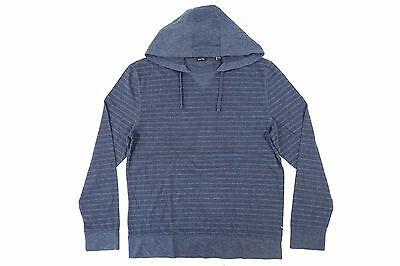 Nautica Striped Sweater - NAUTICA K63974 STRIPED DARK BLUE LARGE LIGHT HOODED V STITCH SWEATER MENS NWT