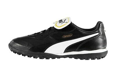 Puma Mens King Top Astro Turf Football Trainers Black White Sports Shoes