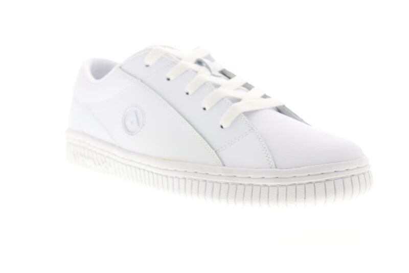 Airwalk The One AW00221-100 Mens White Leather Low Top Skate Sneakers Shoes