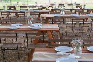 Timber table and chair hire packages for weddings & Parties Sydney City Inner Sydney Preview