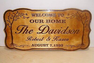 Personalized WOOD Sign Family Name Established.Engraved.Wedding Gift.](Established Sign)