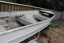 3.6M Savage Alloy Dinghy on Felk Trailer Mariner 5hp 4 stroke eng Edgeworth Lake Macquarie Area Preview