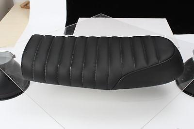 UK Flat Brat Motorcycle Seat Saddle Leather Cover Cafe Racer for Honda/Suzuki