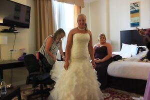 Wedding dress dry cleaned size 12