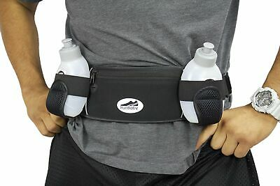 Hydration Belt : Adjustable Running Water Bottle Belt – Best Running Belt for