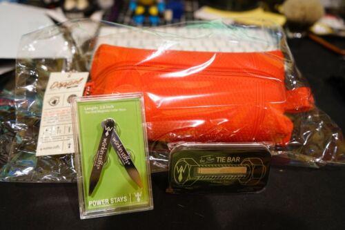 Wurkin Stiffs Metal Magnetic Collar Stays Dopp travel bag Tie bar lot