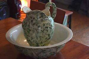 Anitque Sponge-ware Jug & Bowl URGENT. Price Dropped. Georgetown Newcastle Area Preview