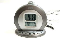 HOMEDICS SS-5000 SOUND SPA ALARM CLOCK W/ PROJECTION, TEMP, 6 NATURE SLEEP SOUND