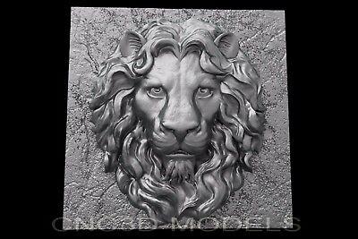 3d Model For Cnc Router Engraver Carving Artcam Aspire Lion King C125
