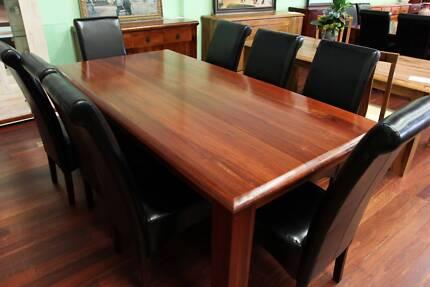Osborne Park 2299 NEW JARRAH TABLE 8 CHAIRS