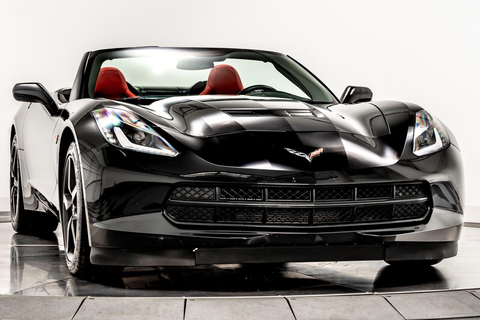 2014 Black Chevrolet Corvette Convertible 2LT   C7 Corvette Photo 2