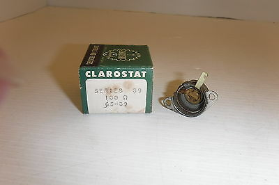 Clarostat Series 39 100 Potentiometer Switch Nib