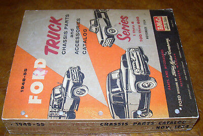 1953 1954 1955 Ford Truck Chassis Body Parts Catalog Set F-100 to 600 F250 F350