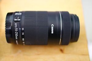 Canon EF-S 55-250mm f/4-5.6 IS STM Lens + Hood + UV Filter Mortdale Hurstville Area Preview