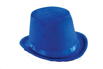 Deluxe Velvet Blue Top Hat Coachman Victorian Adult Men Costume Accessory New