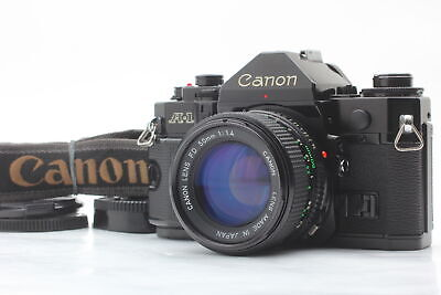 [Almost MINT] Canon A-1 SLR Film Camera w/ New FD 50mm F/1.4 Lens From JAPAN