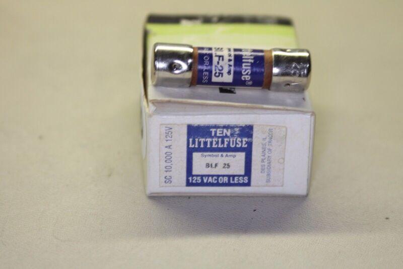 LITTLEFUSE BLF 25 125V FUSE box of 10