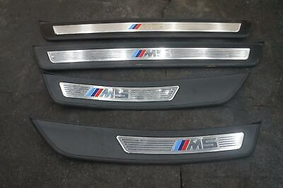 Set 4 Door Sill Entrance Cover Trim Panel Plate 51478050049 BMW M5 F10 2013-16