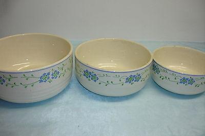 Schüsselsatz, Spritzdekor, 3 Schüsseln aus Keramik ca. 1920