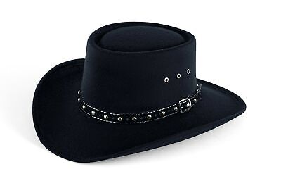 4685d0202918d Western Faux Felt Gambler Cowboy Hat Large Extra Large with Elastic Band  for sale Slidell