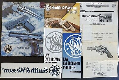 Vintage Smith & Wesson Catalogs Stickers Pamphlets & .357 S&W Magnum 66 Manual