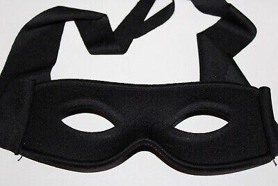 Maske Zorro schwarze Augenmaske Bandit Kostüm Zubehör Halloween Party