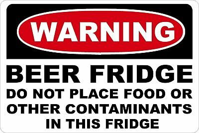 Beer Fridge Warning Label Funny Drink Alcohol Humor Booze Vinyl Sticker / Decal