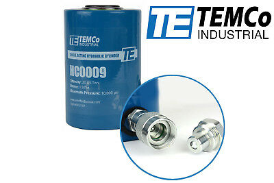 Temco Hc0009 - Hydraulic Cylinder Ram Single Acting 20 Ton 2 Inch Stroke
