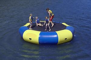 Inflatable water bouncer/trampoline