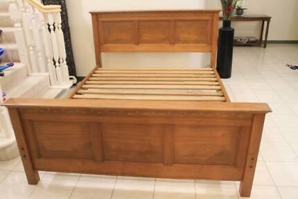 Queen Size Wood Bed,