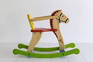 Wooden Rocking Horse Cameron Park Lake Macquarie Area Preview
