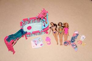 Barbie swimming pool and dolls Mawson Lakes Salisbury Area Preview