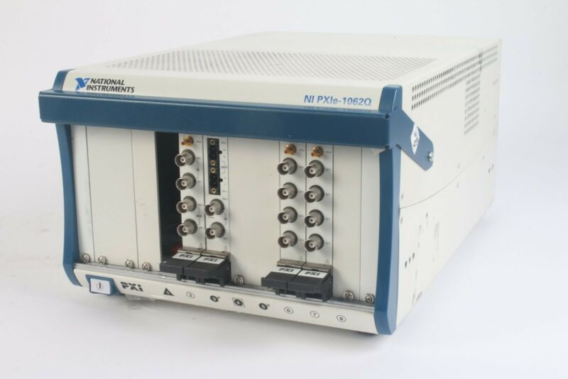 National Instruments NI PXIe-1062Q 8-Slot PXI Express Chassis 193893C-01 + Cards