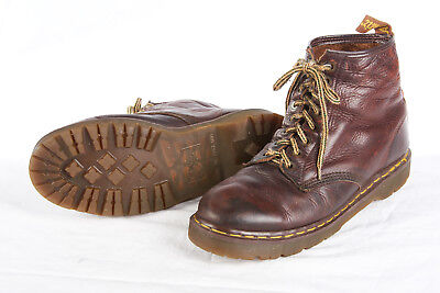 Mens DR. MARTENS Boots 12 D in Aztec Crazy Horse 1460 Vtg Brown Leather ENGLAND Mens Aztec Crazy Horse
