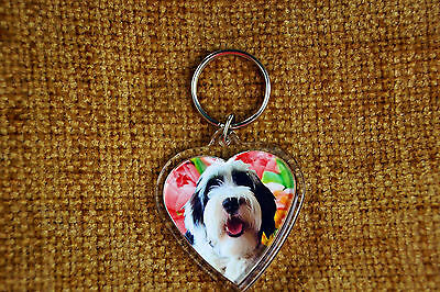 Tibetan Terrier Gift Keyring Dog Key Ring heart shape gift 1 only left, freepost