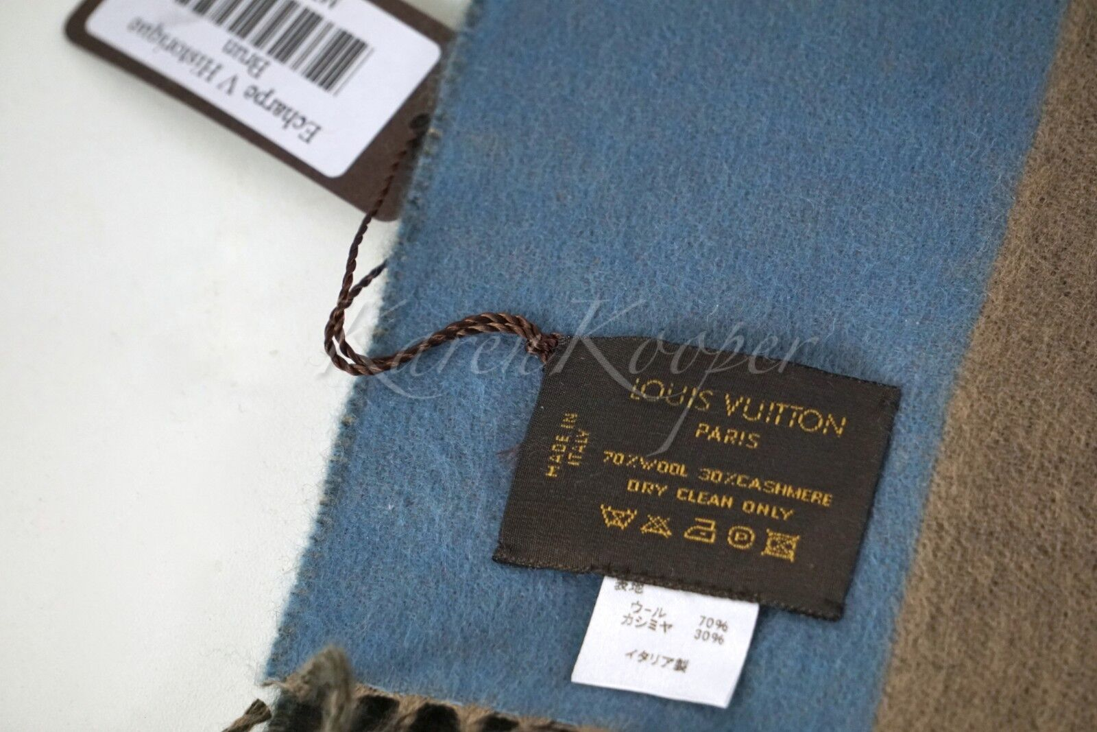 5b11351d6f8 ... AUTHENTIC LOUIS VUITTON V HISTORIQUE CASHMERE SCARF NEW WITH TAGS фото