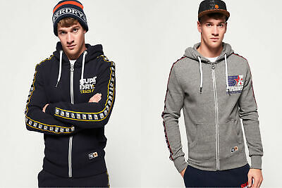 Superdry Mens Triple Star Track Zip Hoodie