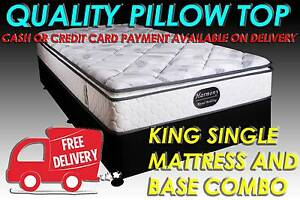 KING SINGLE Size PILLOW TOP Ensemble DELIVERED FREE  - HARMONY Carrara Gold Coast City Preview