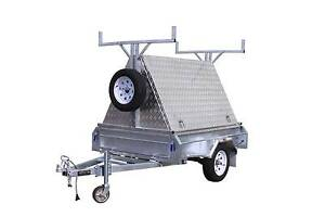 6X4 Aluminium Tradesman Top with Galvanised Rack Glenorchy Glenorchy Area Preview