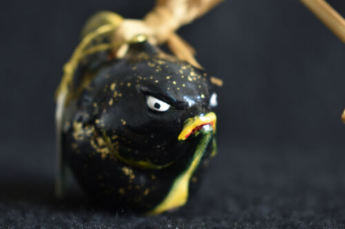 Japanese Old Clay Bell Dorei 2005 : design Fugu (Blowfish)