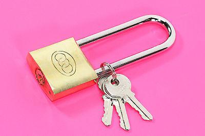 WOW Vorhängeschloss Bügelschloss Kellerschloss GR 3 Schlüssel mit hohem Bügel