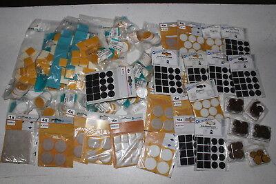 50 x Packs Packungen Filzgleiter selbstklebend  Filz Gleiter Restposten Baumarkt