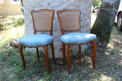 Antique french vintage pair of farmhouse chairs great condition
