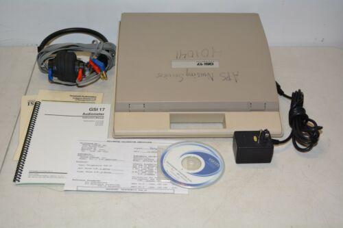 Grason Stadler Audiometer GSI 17  W/Headset and Power Supply #N01