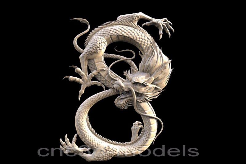 3D STL Models for CNC Router Engraver Carving Artcam Aspire Dragon 089