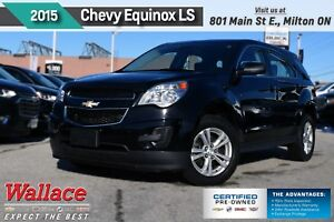 2015 Chevrolet Equinox LS/1-OWNR/CLEAN HSTRY/7 SCRN/BLUTH/6-SPKR